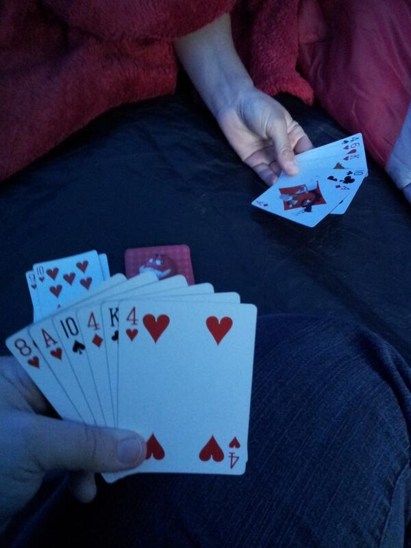 Getting through the evening with a few games of Black Jack
