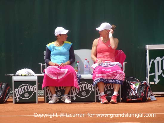 Sam Stosur and Fran Schiavone doubles