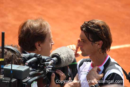 Ferrer at the French Open in 2012