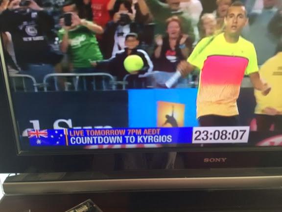 Australian TV Channel 7's Countdown to Kyrgios